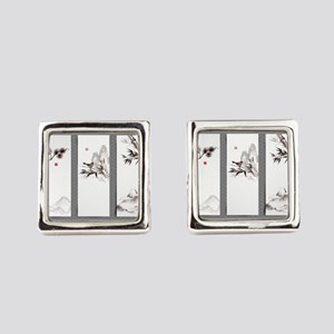 japanese Square Cufflinks
