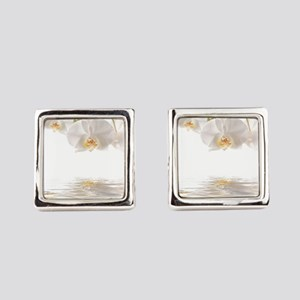 Orchids Reflection Square Cufflinks