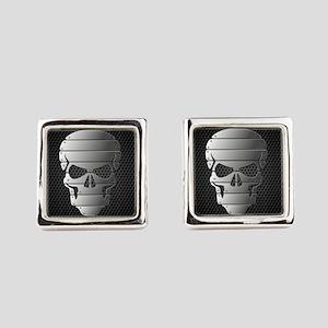 Chrome Skull Square Cufflinks