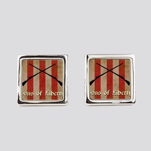 Sons of Liberty Flag Square Cufflinks