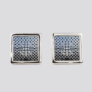 Chrome Celtic Knot Square Cufflinks