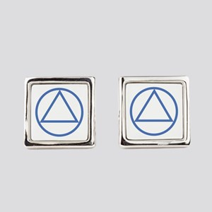 ALCOHOLICS ANONYMOUS Square Cufflinks
