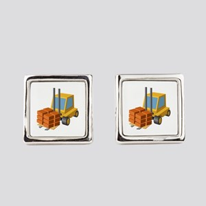 Forklift Lifting Machinery Square Cufflinks