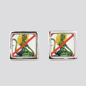 No Lot Lizards Square Cufflinks