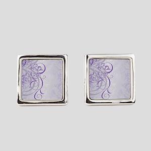 Vintage Rococo Purple Damask Cufflinks