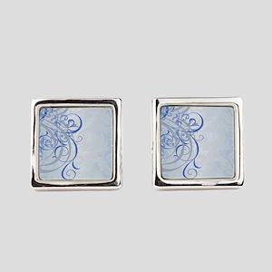 Vintage Rococo Blue Damask Cufflinks