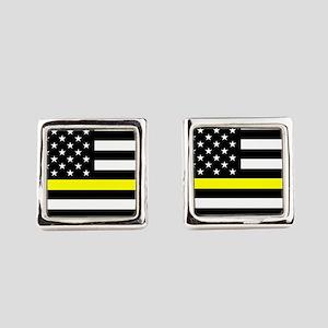 U.S. Flag: Black Flag & The Thin Square Cufflinks