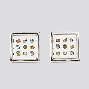 Neko Atsume Square Cufflinks