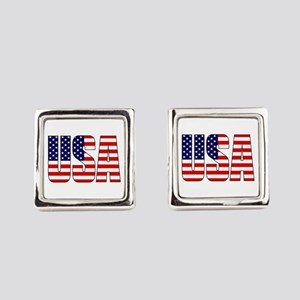 USA Flag Square Cufflinks
