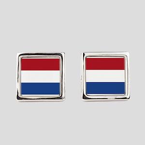 Holland Flag Square Cufflinks