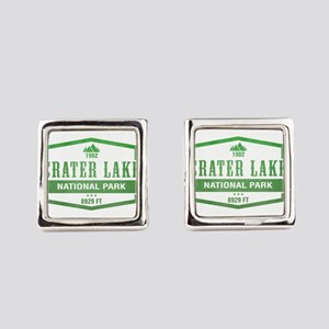 Crater Lake National Park, Oregon Square Cufflinks