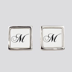 M-cho black Square Cufflinks