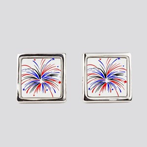 Fireworks Square Cufflinks