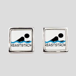 breaststroke Square Cufflinks