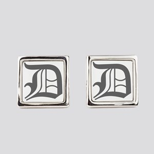 D-oet gray Square Cufflinks