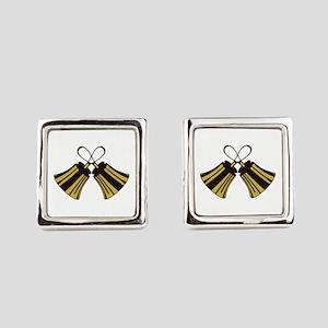 Crossed Handbells Square Cufflinks
