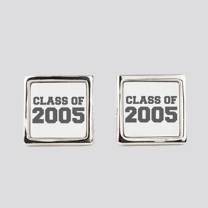 CLASS OF 2005-Fre gray 300 Square Cufflinks