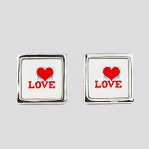 Paintball Player I Love Paintball Square Cufflinks