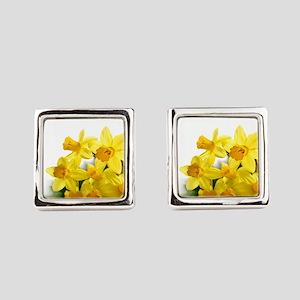 Daffodils Style Square Cufflinks