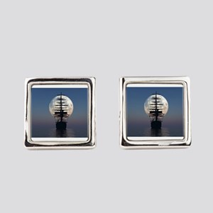 Ship Sailing In The Night Square Cufflinks