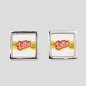 Dilly Soda 4 Square Cufflinks
