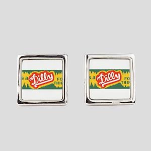 Dilly Soda 3 Square Cufflinks