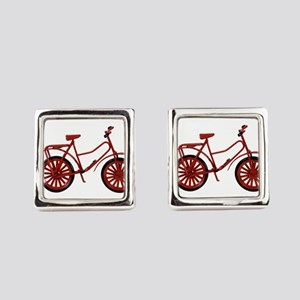 RedBicycle030310 Square Cufflinks