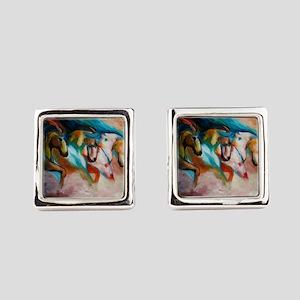 three spirits Square Cufflinks