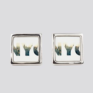 NYC for NEW YORK CITY - Typo Square Cufflinks