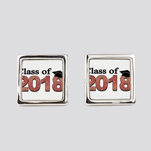 Class of 2018 Glitter Square Cufflinks