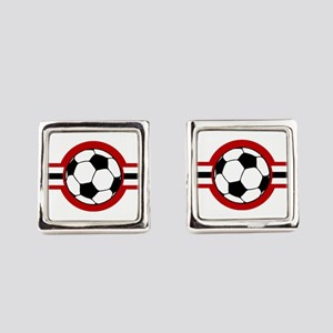 soccer airstar Square Cufflinks