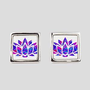 Lotus flower Square Cufflinks