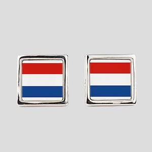 Netherlands Flag Square Cufflinks
