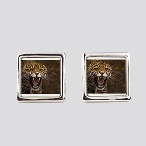 Growling Jaguar Square Cufflinks