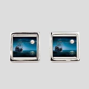 Moonlight Pirates Square Cufflinks