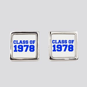 CLASS OF 1978-Fre blue 300 Square Cufflinks
