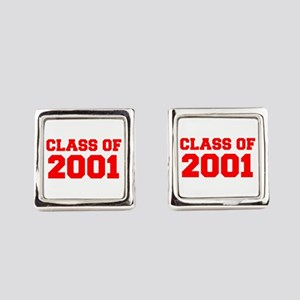 CLASS OF 2001-Fre red 300 Square Cufflinks