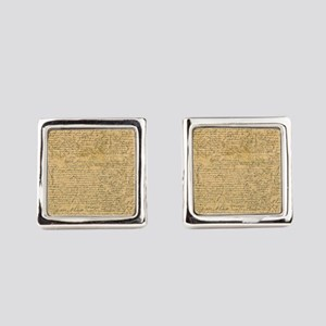 Old Manuscript Square Cufflinks