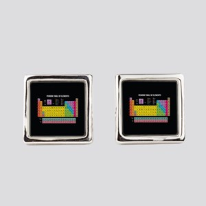Periodic Table Of Elements Square Cufflinks