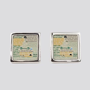 Walter Quotes - Breaking Bad Square Cufflinks