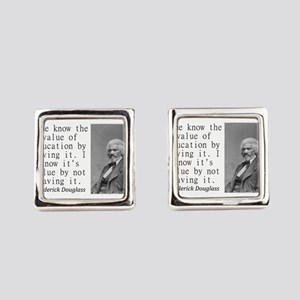 Some Know The Value Of Education Square Cufflinks