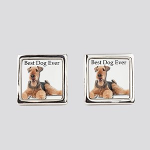 Airedale Terrier is Best Dog Ever Square Cufflinks