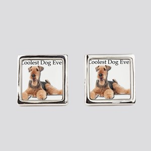 The Airedale Terrier is the Coole Square Cufflinks