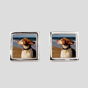 Brittany Dog Breed Square Cufflinks