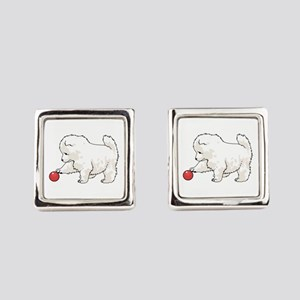SAMOYED PUPPY Square Cufflinks
