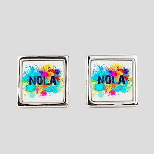 Good Vibes NOLA Burst Square Cufflinks