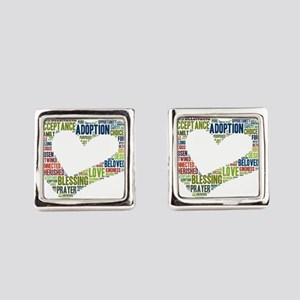 heart fulfilled Square Cufflinks