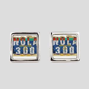 NOLA 300 Year Tricentennial Artwo Square Cufflinks