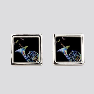 French Horn Square Cufflinks