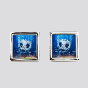 Ball Splash Over Stadium Square Cufflinks